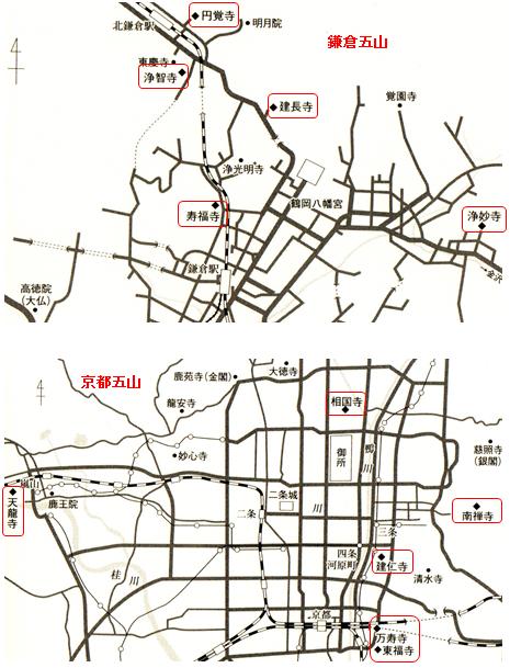京都五山・鎌倉五山
